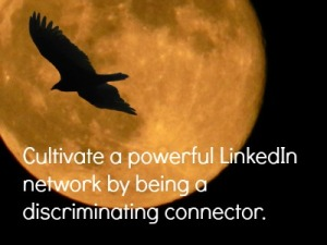Cultivate a powerful LinkedIn network by being a discriminating connector.